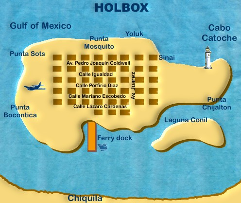 Holbox Map