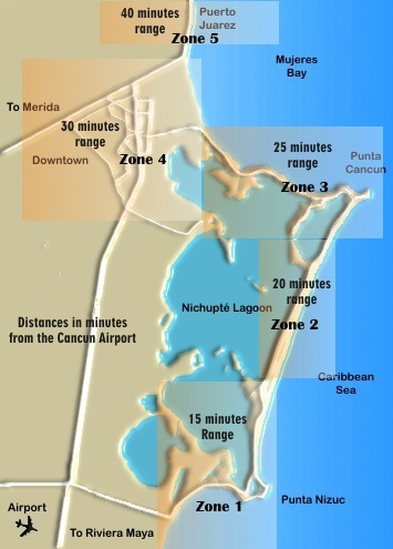 Cancun Hotel Zone Map